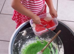 Toddler Christmas Craft - Microwave Play Dough