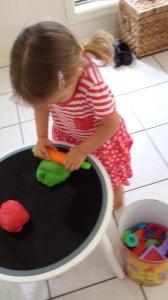 Toddler Christmas Craft - Microwave Glitter Play Dough