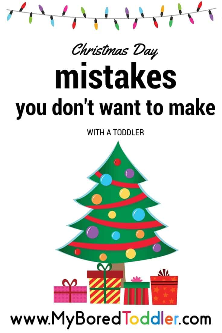 christmas day mistakes with a toddler