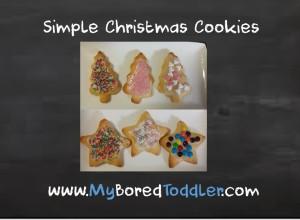 Simple Toddler Christmas Tree Cookies