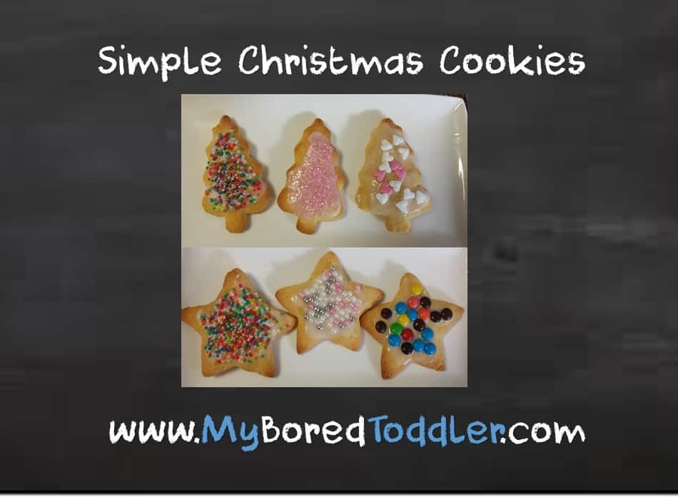Simple Toddler Christmas Tree Cookies
