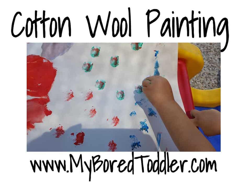 Toddler cotton wool painting