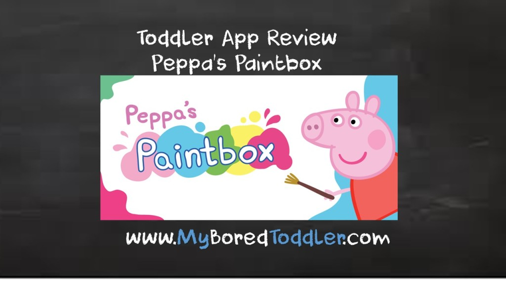 Toddler App Review – Peppa Pig Paintbox FREE