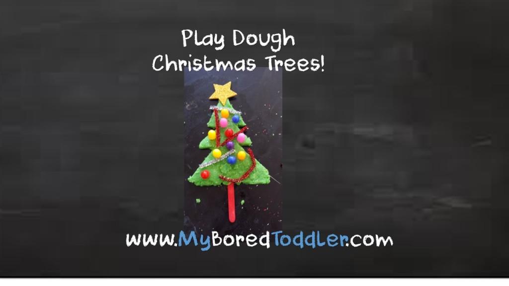 play dough christmas tree