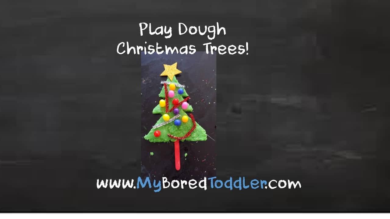 Playdough Christmas Trees