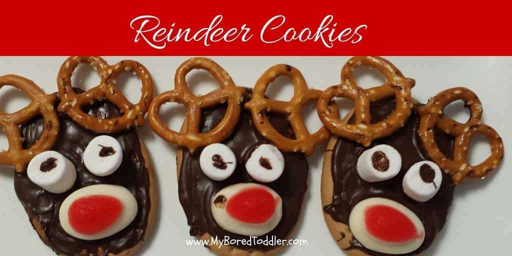 Reindeer cookies your toddler can make!