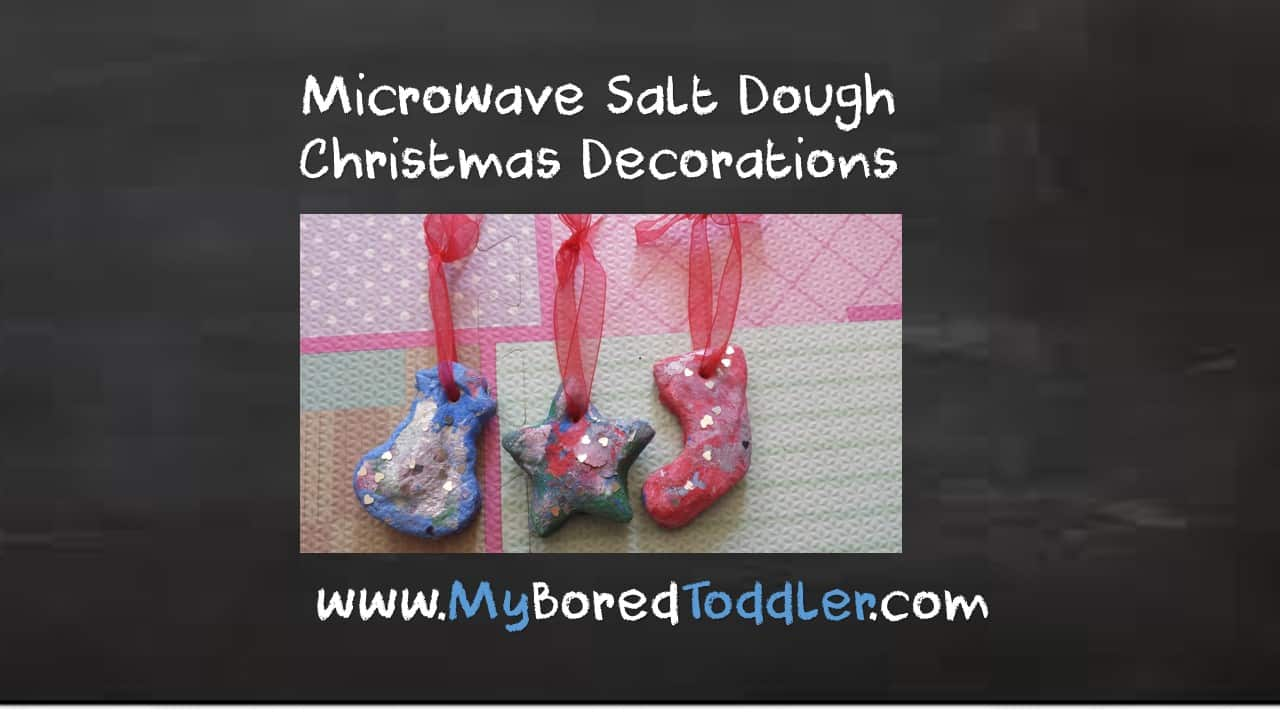 Microwave Salt Dough Christmas Decorations