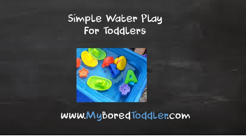 Water Play – So simple yet so much fun!