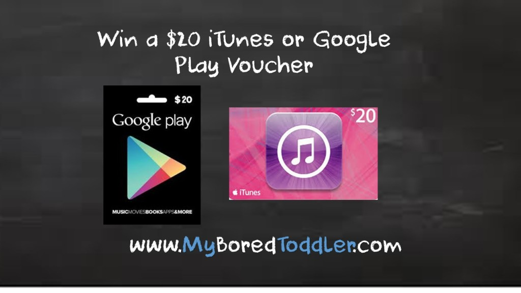 Best Apps for  Toddlers! Win a $20 iTunes or Play Store Voucher!