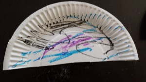 Toddler craft activity. Toddler Jellyfish craft
