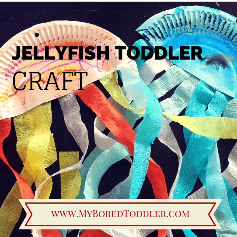 Jellyfish toddler craft activity
