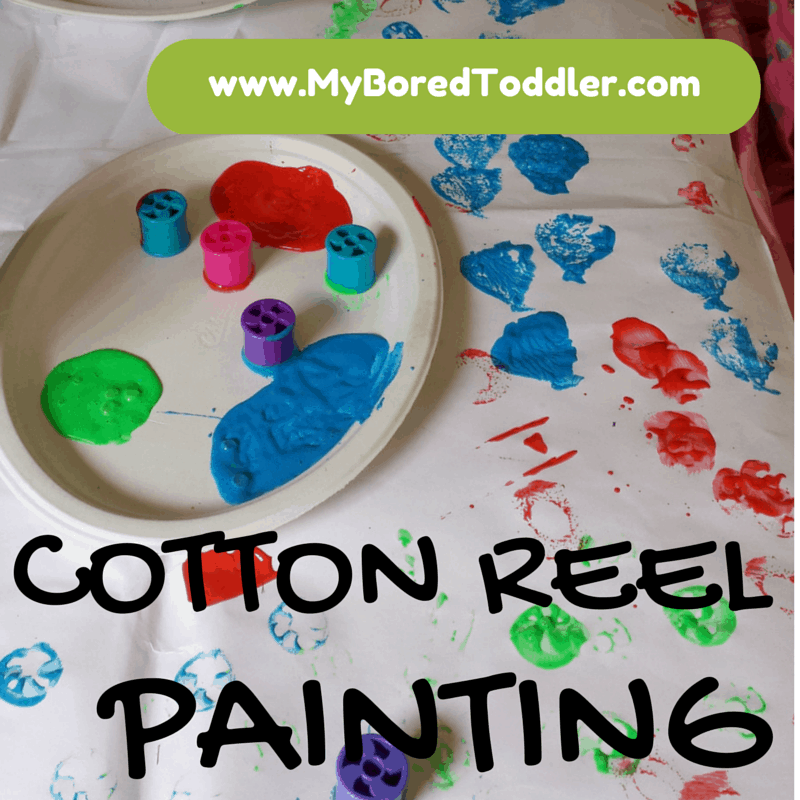 Cotton reel painting for toddlers