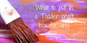 What to put in a toddler craft box for only $50