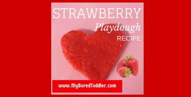 Playdough Recipe – Strawberry Scented