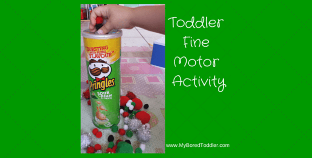 Toddler Fine Motor Activity – Pom Poms and Containers