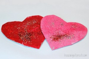 Glitter tissue paper toddler craft valentine's day