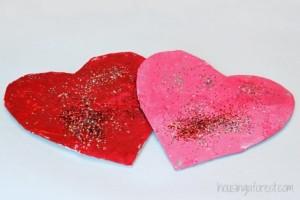 Glitter tissue paper toddler craft valentine's day