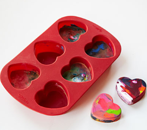 toddler craft melted crayon hearts