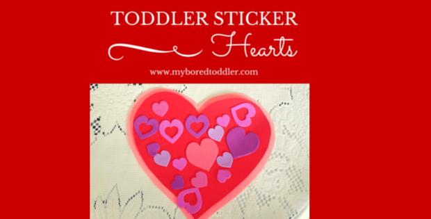 Love Heart sticker activity for toddlers
