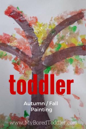 toddler autumn fall craft