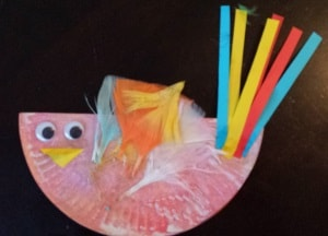 paper plate craft toddler bird