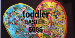 Easter egg toddler craft