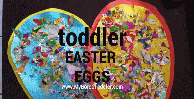 Easter egg toddler craft