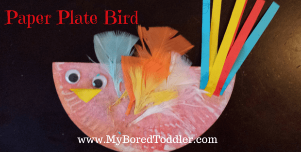 & Paper Plate Bird - My Bored Toddler