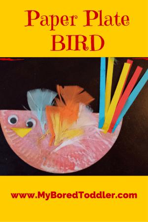 paper plate toddler craft bird