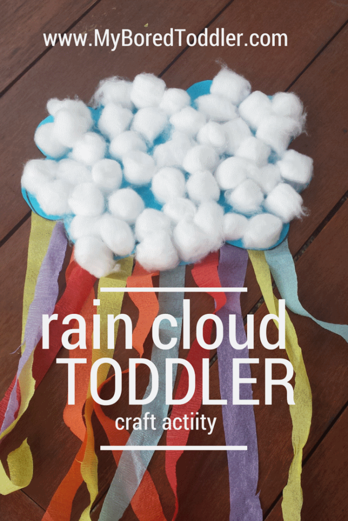 toddler spring activities rain cloud