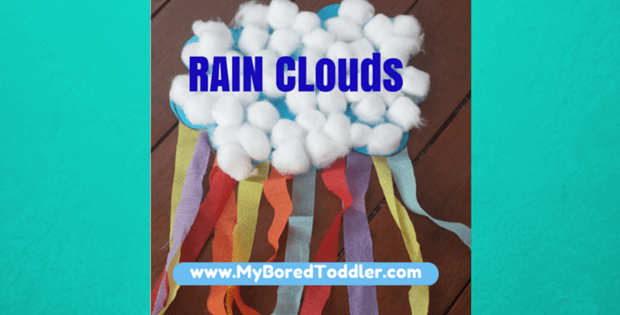 Rain Cloud Toddler Craft
