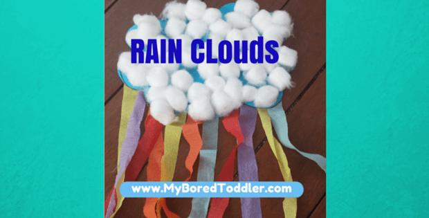 toddler activity rain clouds