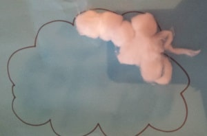 toddler activity rain clouds