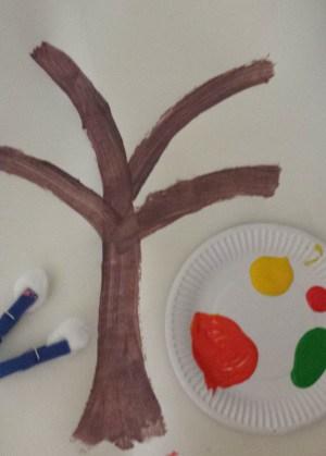 autumn tree toddler craft