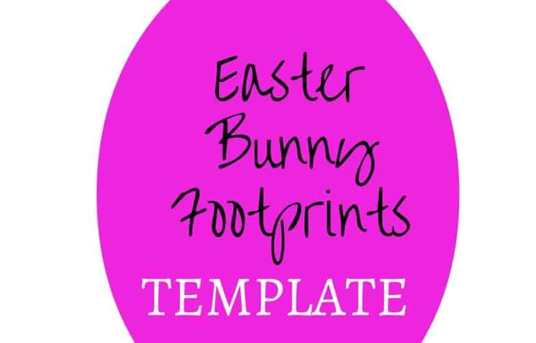 easter bunny footprint stencil