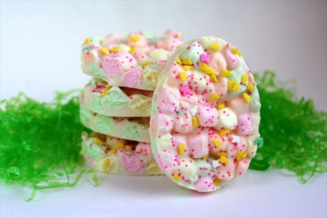 Toddler Easter Activities - Easter Marshmallow Bark