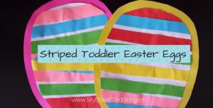 Toddler Striped Easter Egg Craft