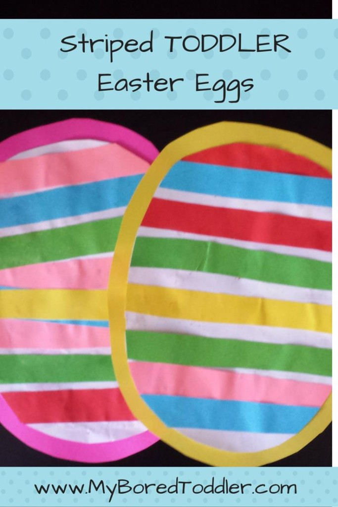 toddler easter craft striped easter egg