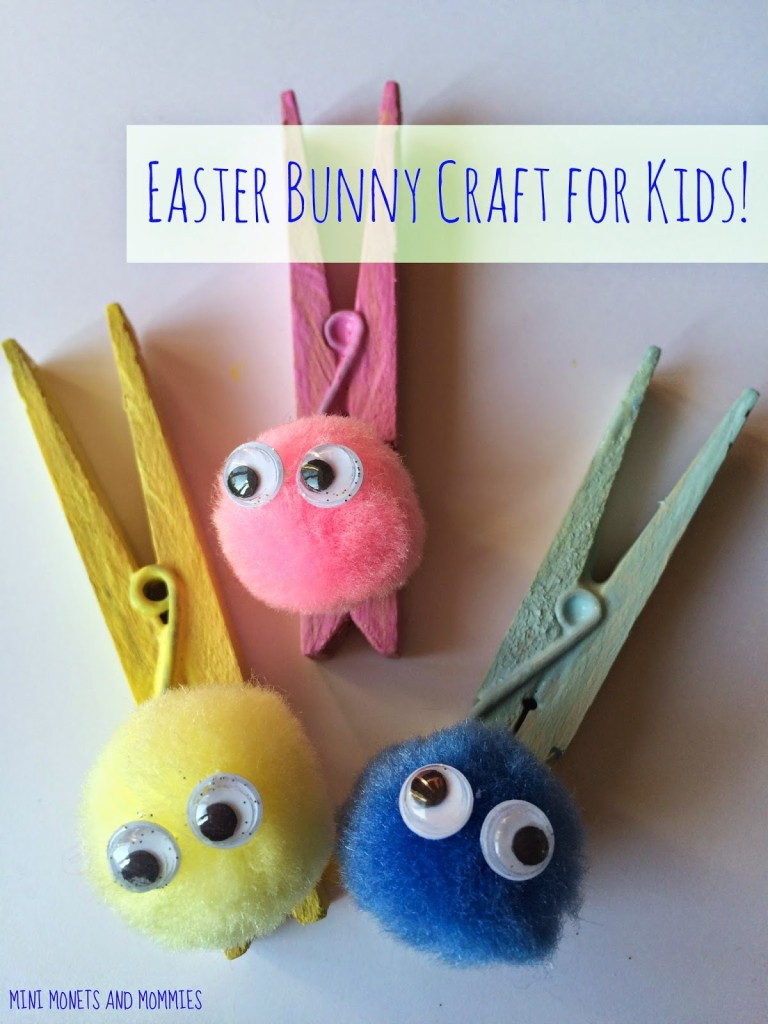 bunny pegs easter craft