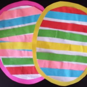 striped easter egg craft for toddlers