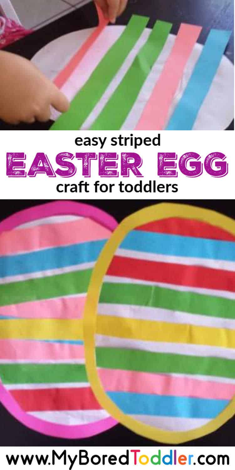 Easy Striped Easter Egg Craft For Toddlers To Make My Bored Toddler