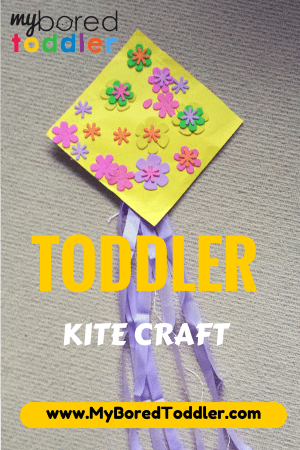 toddler spring craft activity kite