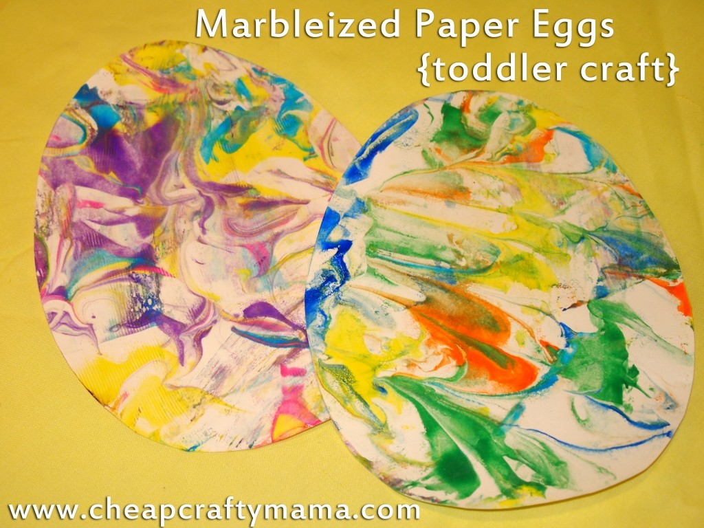 marbelized easter eggs toddler craft