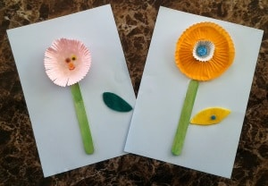 spring craft for toddlers flowers