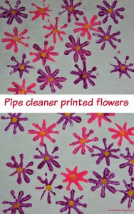 toddler activities - pipe cleaner flowers