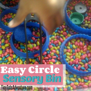 toddler fun friday circle sensory bin