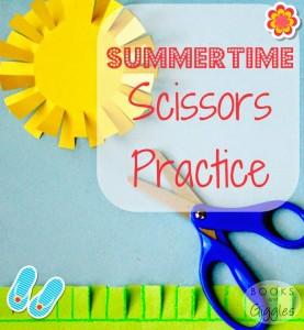 Toddler Fun Friday scissor practice