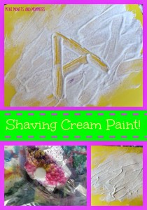 toddler activities - shaving cream paint
