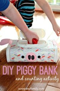 toddler activities diy piggy bank