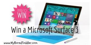 Win a Microsoft Surface 3 laptop